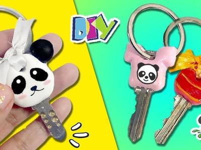 ???? DECORA tus LLAVES al estilo KAWAII ???? * LLAVES DECORADAS Panda, Camiseta y Chupa-Chups ✔️ FÁCIL