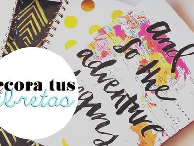 DIY Decora tus libretas para regreso a clases  |  Flor Guerrero