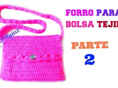 ♥ FORRO PARA BOLSA TEJIDA | como hacer un forro de tela para bolsas tejidas a ganchillo