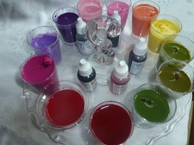 Gelatiarte Preparación de Gelatina base de Leche y Combinación de Colores