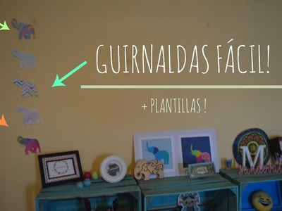 Guirnaldas de Cactus y Elefantes! Fácil (+ plantillas) - Melina Sandoval