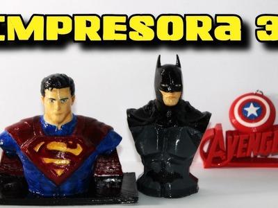 IMPRIMIENDO Y PINTANDO FIGURITAS - IMPRESORA 3D   BATMAN vs SUPERMAN   ArteMaster
