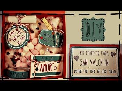 KIT PERFECTO PARA SAN VALENTIN (tutorial express): regalo de última hora
