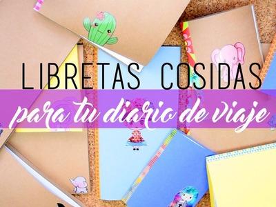 Libretas cosidas ♡ DIY ❀ Travel diary.Travel Journal.Diario de viaje || Likesely