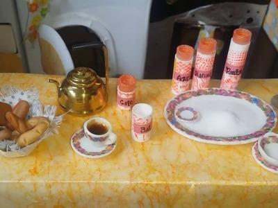 Recipientes  Para Guardar Alimentos de Muñecas  - Haciendo Mini Cafe