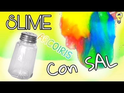 SLIME ARCOIRIS con solo PEGAMENTO y SAL!