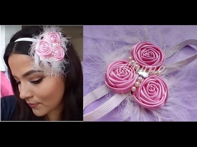 Tocado con Rosas torbellino y perlas,tiara,valerina,diadema,balacas,vnchas,