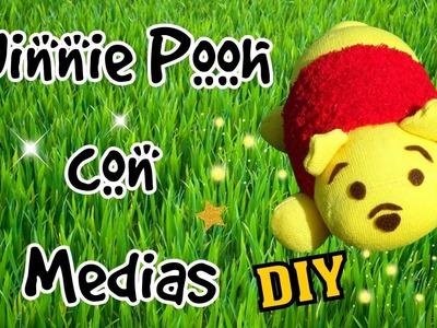 Winnie The Pooh con Medias Muñecos con medias o calcetines Tutorial Tsum Tsum DIY