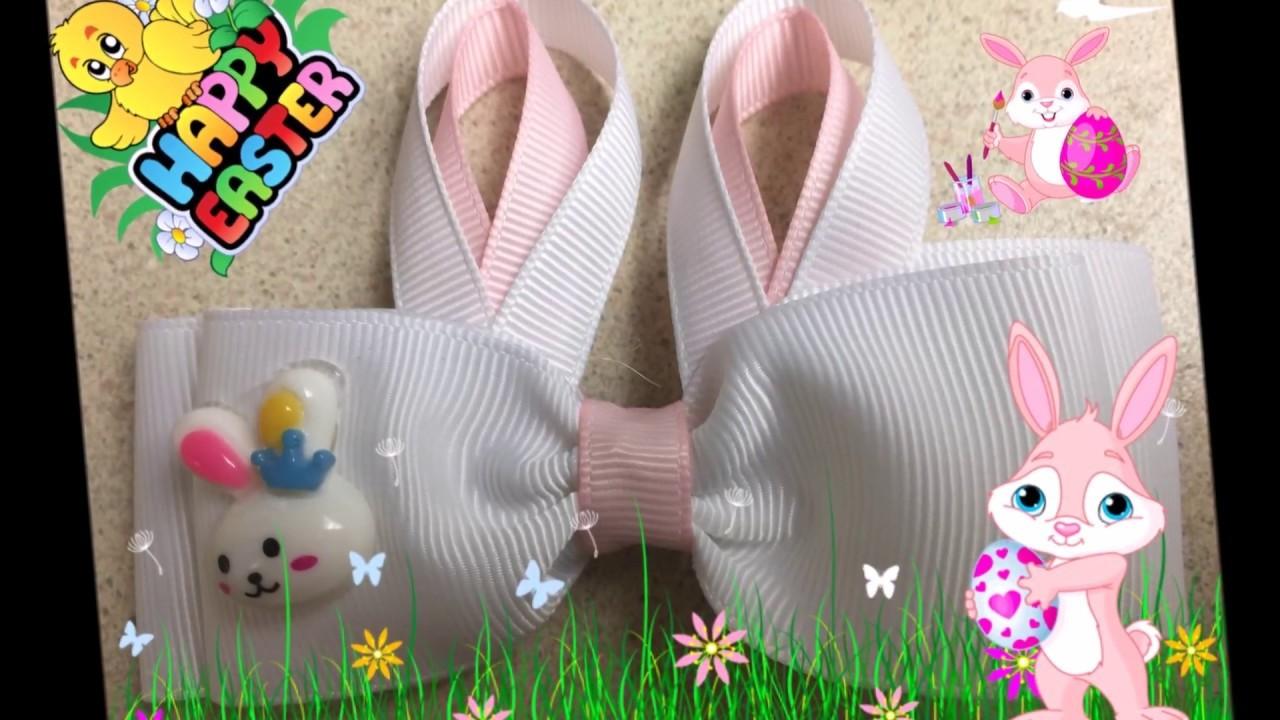 Accesorio para niña de conejo para Pascuas (How to make a Bunny Hair Clip)