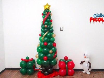 Arbol de navidad con globos con menos de 50 pesos # 83
