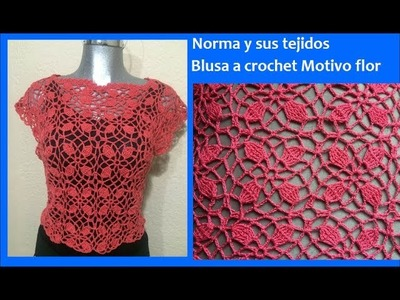 Blusa a crochet cuadro de flor (parte 2)