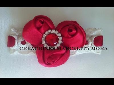 Broche con Rosas Pequeñas. Clip Hair Easy Rose