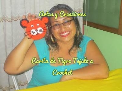 CARITA DE TIGRE TEJIDO A CROCHET - APLICATIVO