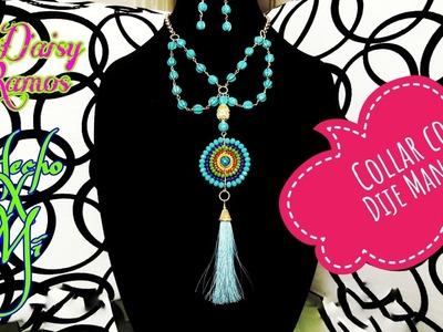 Collar con Dije Mandala, Alambrismo DIY