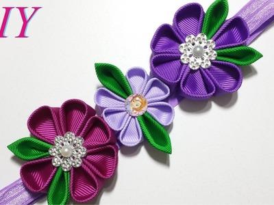 Como Hacer Lazos ???? DIY #66 Bandana Floral inspirada en La Princesa Sofia Tutorial
