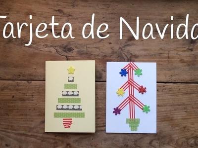 Cómo hacer tarjetas de navidad fáciles para niños con Washi Tape