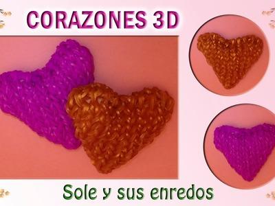 Cómo hacer un Corazón 3D con gomitas elásticas