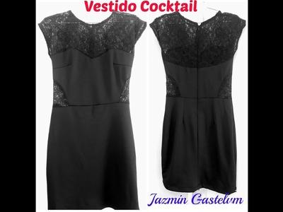 Como Hacer Un Vestido De Cocktail -Intermedio- How To Make  a Cocktail dress