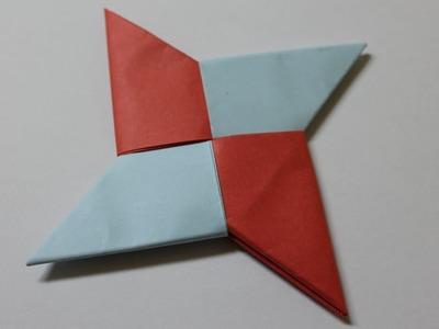 Como hacer una estrella ninja de papel de 4 puntas
