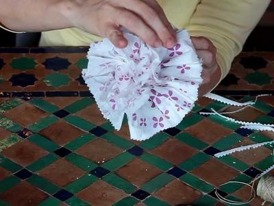 Como hacer una flor con una servilleta de papel - en danza - http:.chymundaendanza.blogspot.com.es.