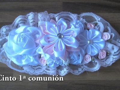 # DIY - Cinto 1ª comunión # DIY - Belt 1st Communion