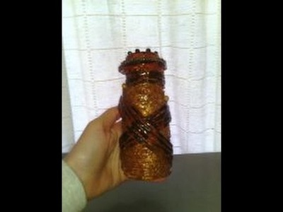 Floreros hechos con Botella de cristal, papel y cáscaras de huevo - PASO A PASO