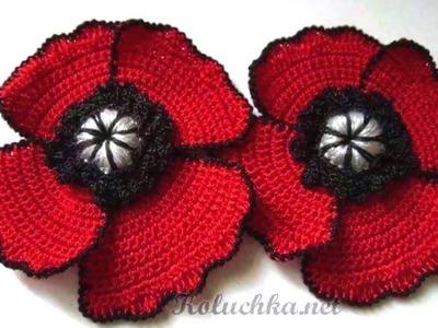 Flores amigurumi tejidos a Crochet