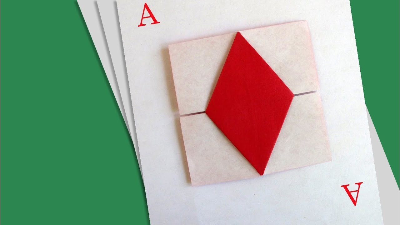 Origami Ace of Diamonds :: As de Diamantes