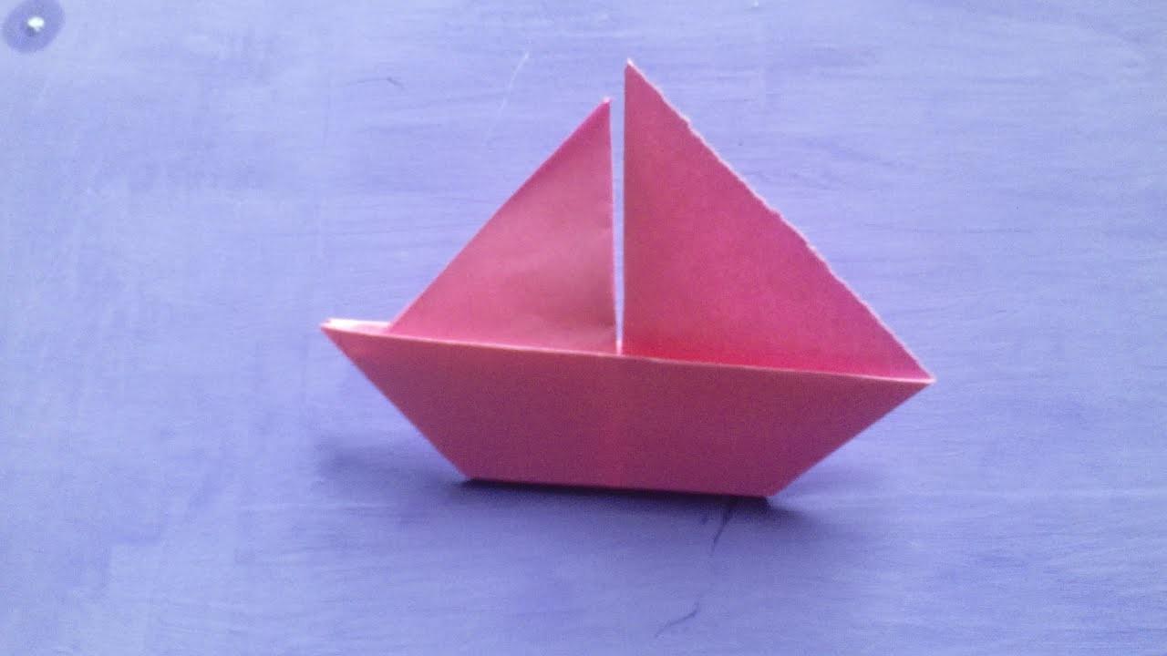 Origami - Barco velero de papel