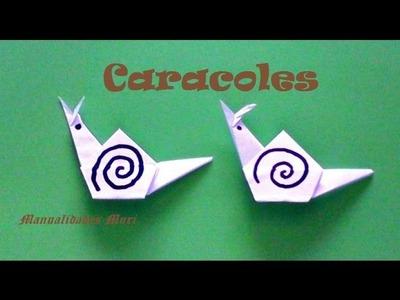 Origami - Papiroflexia. Caracol de papel
