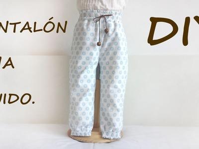 Pantalón niña fluido. Costura ropa de niña.