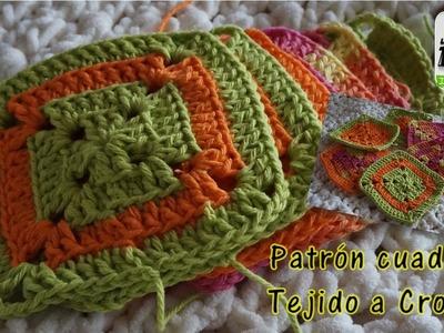 PATRÓN CUADRADO TEJIDO A CROCHET