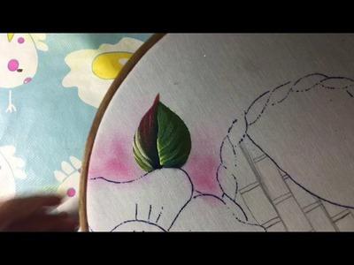 Pintura En Tela Canasto Con Flores # 1 Con Cony
