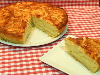 Receta fácil de torta esponjosa de manzana