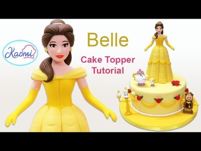 The Beauty and the Beast (Cake Topper): Belle. Cómo hacer a Bella en pasta de goma
