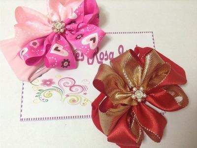 Tiara con moño boutique en forma de flor     VIDEO  No. 216