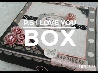 Tutorial Caja con solapa P.S I Love You