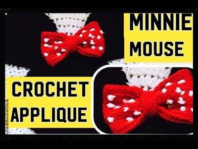 Applique de Minnie Mouse a crochet facil y  bonito Tejiendo Con Erica!!
