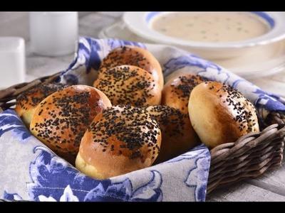 Bollos Salados Rellenos de Queso Crema | Pan de Mesa Relleno de Queso
