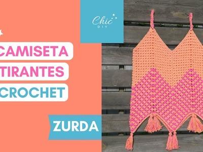 CAMISETA TIRANTES A CROCHET | ZURDA | CHIC DIY