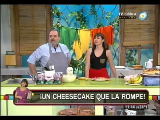 Cheesecake de banana y dulce de leche