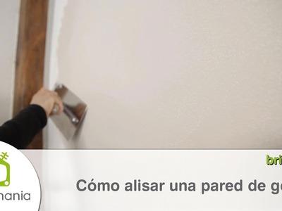 Cómo alisar una pared con gotelé
