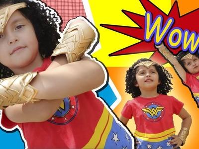 Como hacer Brazaletes y Corona de Wonder Woman. Mujer Maravilla