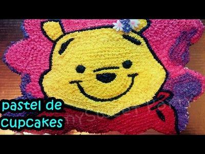 Como hacer pastel de cupcakes