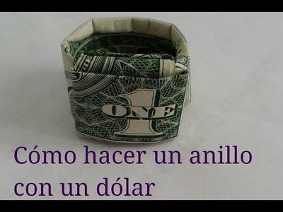 Cómo hacer un anillo con un billete