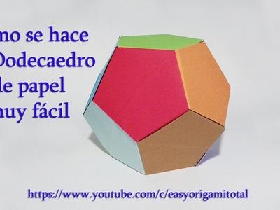Como hacer un dodecaedro de papel muy fácil, dodecaedro modular origami