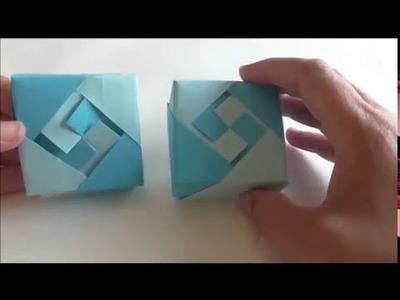 Como hacer una caja con papel (tapa caja especial uno)