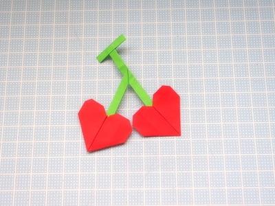 Cómo hacer una cereza de papel - Origami