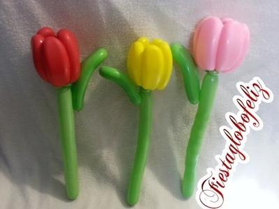 Como hacer unos bellos tulipanes con globos