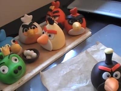 Como modelar los pajaros de Angry Birds en pasta de azucar ( Angry birds toppers)